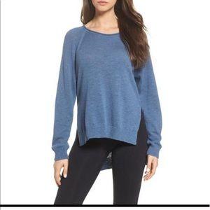 Ugg Estela High Low Blue Sweater
